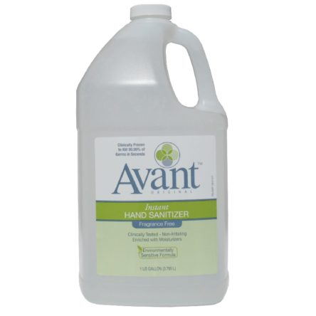 Avant Original Fragrance Free Hand Sanitizer 1 Gallon Bottle-Case of 4