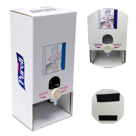 PURELL Dispenser Sanitizer Manual Tabletop Stand with 2 Ethyl Alcohol Gel 70% 1000ml Refill Bags Purell Advanced (1/Case)